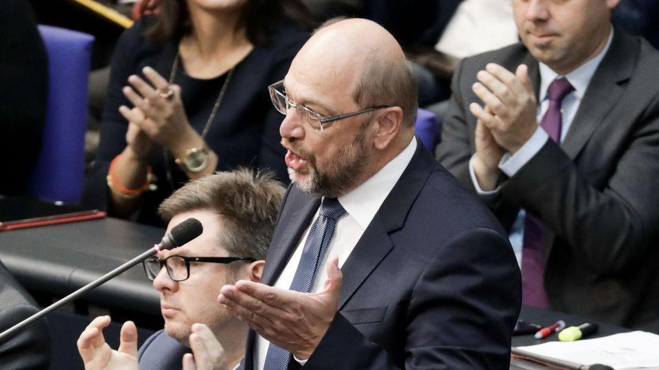Martin Schulz hält flammende Rede für die Demokratie im Bundestag