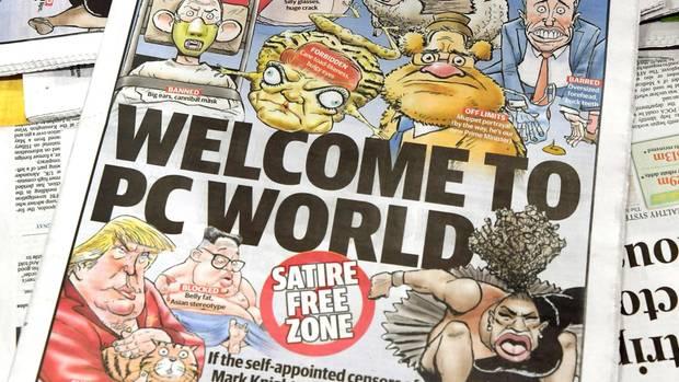 Serena Williams Cartoon auf Zeitungscover