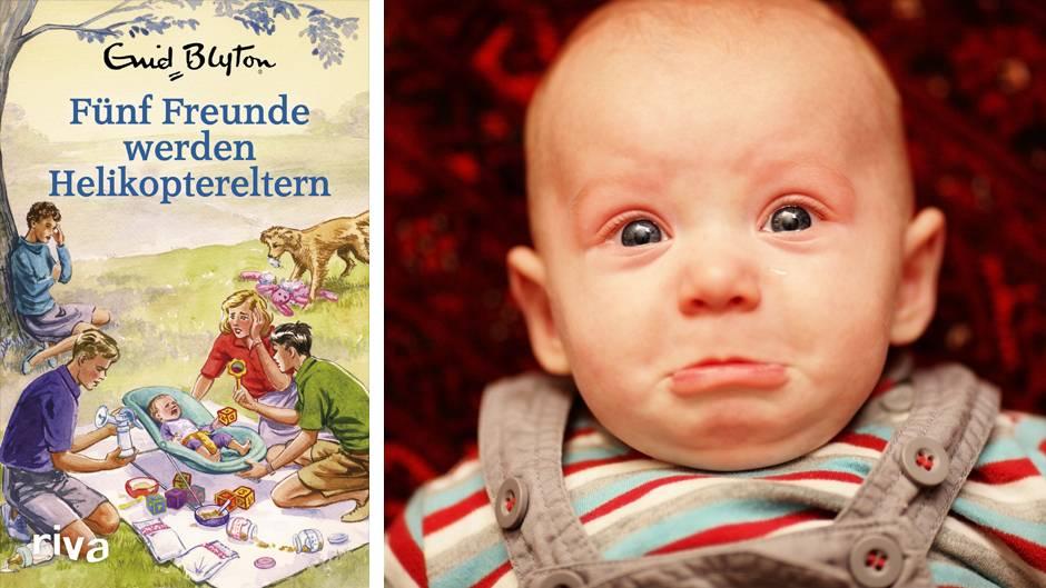 Buchcover und das Gesicht eines Babys