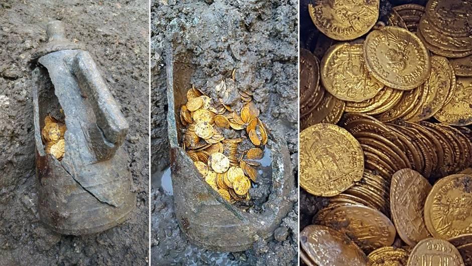 Die Münzen sind einem perfekten Zustand.