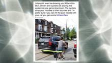 Toronto: Darum klemmen sich Radfahrer Poolnudeln auf den Gepäckträger