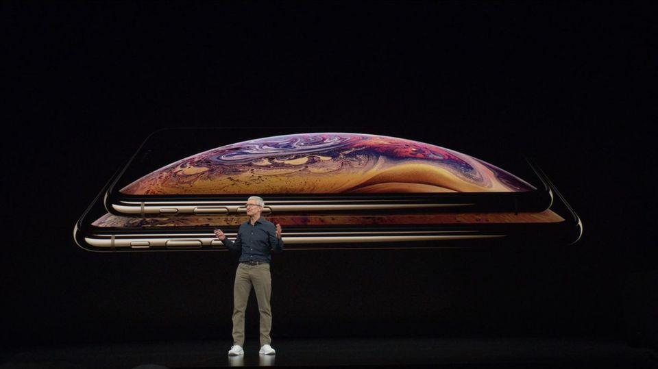 Apple -CEO Tim Cook vor dem neuen iPhone XS und iPhone XS Max