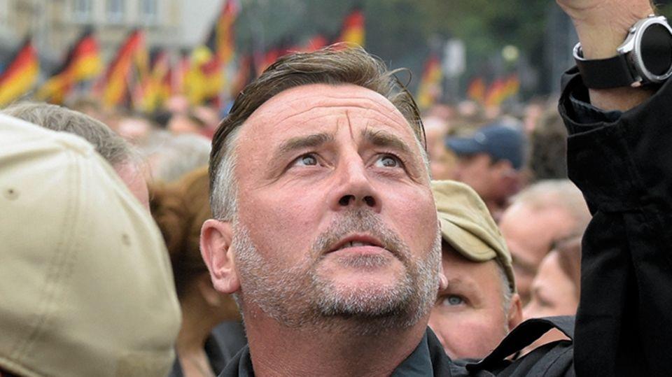 Auch der Pegida-Gründer Lutz Bachmann war in Chemnitz dabei