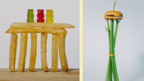 """Buch """"Bauschmaus"""": Lecker! Erkennst du diese Touri-Attraktionen an ihren Nachbildungen aus Essen?"""