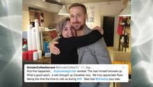 Ryan Gosling im Coffeeshop