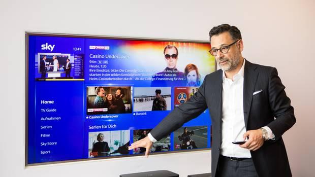 Sky-Manager Marcello Maggioni setzt auf einfache Bedienung des Receivers