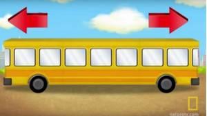 Ein symmetrischer Comic Bus