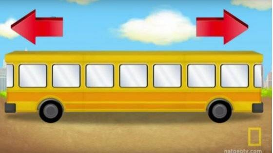Rätselspaß: In welche Richtung fährt dieser Bus?: Viele Kinder wissen die Antwort binnen Sekunden. Und Sie?