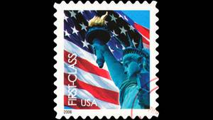 Eine amerikanische Briefmarke