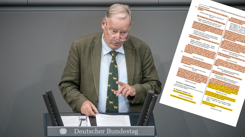 Alexander Gauland, Fraktionsvorsitzender der AfD, spricht am 12. September bei der Generaldebatte im Deutschen Bundestag