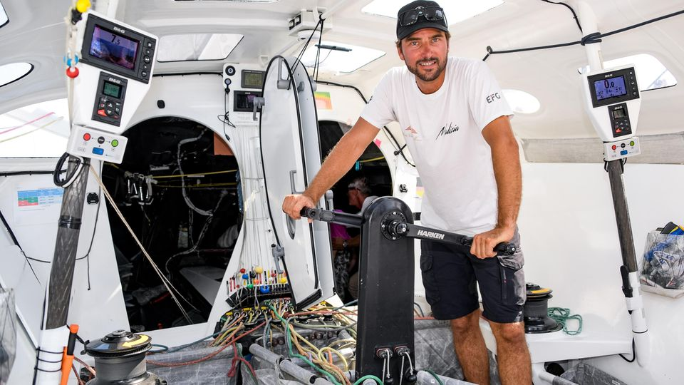 Kleiner Einblick an Bord: Boris Herrmann auf der Malizia