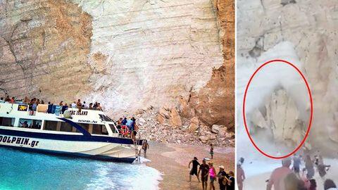 Griechenland: Bergsturz auf Ferieninsel Zakynthos