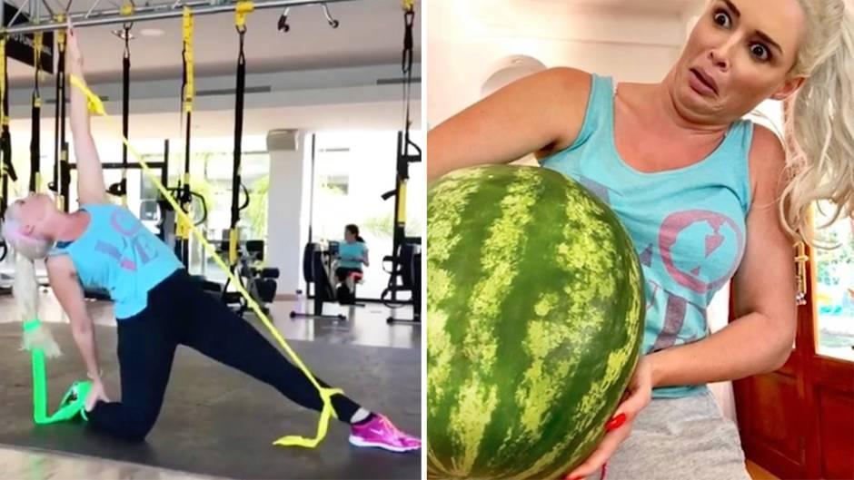 Daniela Katzenberger zeigt Humor bei ulkigem Fitness-Workout