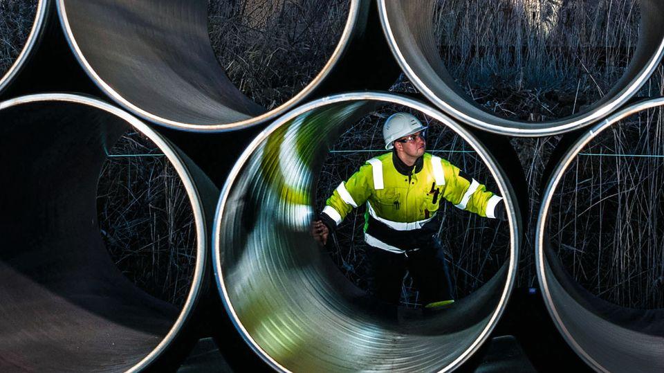 Von Russland nach Greifswald: Erste Rohre der Nord Stream 2 verlegt