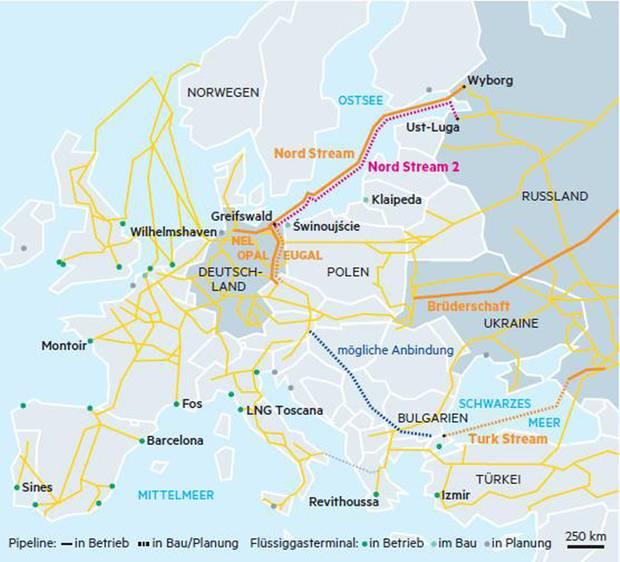 """Nord Stream 1 und 2 sowie Turk Stream könnte die """"Brüderschaft""""-Leitung durch die Ukraine überflüssig machen"""