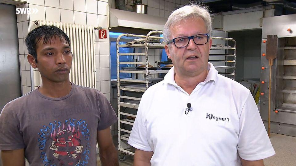 SWR Landesschau: Bäcker will Geflüchteten weiter beschäftigen