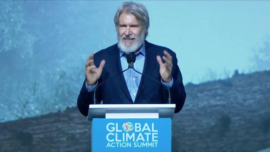 Klima-Gipfel: Harrison Ford hält leidenschaftliche Rede – und warnt vor Leuten wie Trump