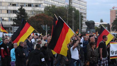 Protest rechter Gruppen durch Chemnitz