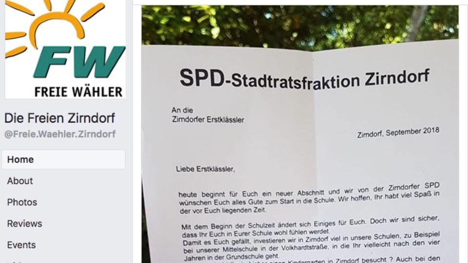 Brief der SPD