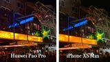 Die Große Freiheit 36, eine der beliebtesten Konzert-Locations auf St. Pauli. Auch hier sind die Unterschiede der beiden Smartphones offenkundig: Auf den ersten Blick wirkt das Bild des Huawei P20 Pro beeindruckender, aber ...