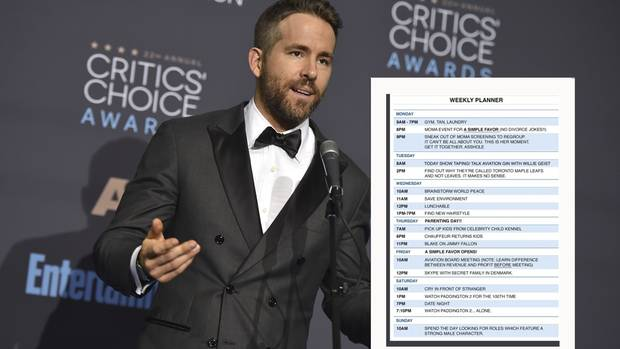 Ryan Reynolds macht sich über Mark Wahlbergs durchgetakteten Tagesablauf lustig