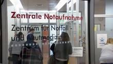 Eingang der Notaufnahme im Hamburger Marienhospital.
