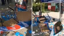 AfD-Infostand in München verwüstet