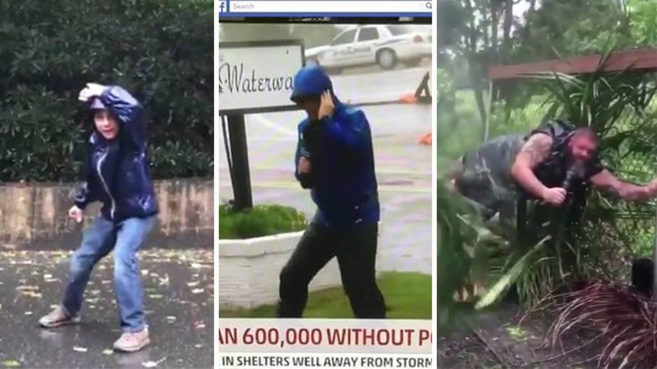 """Hurrikan """"Florence"""": #Weathergate: Twitter-Nutzer imitieren die dramatische Vorstellung des TV-Reporters"""
