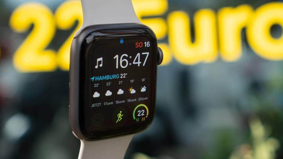 Auf das Display der Apple Watch Series 4 passen jetzt richtig viele Informationen.