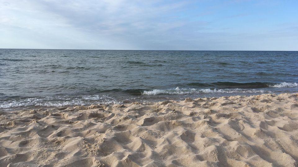 Der Strand von Pobierowo in Polen