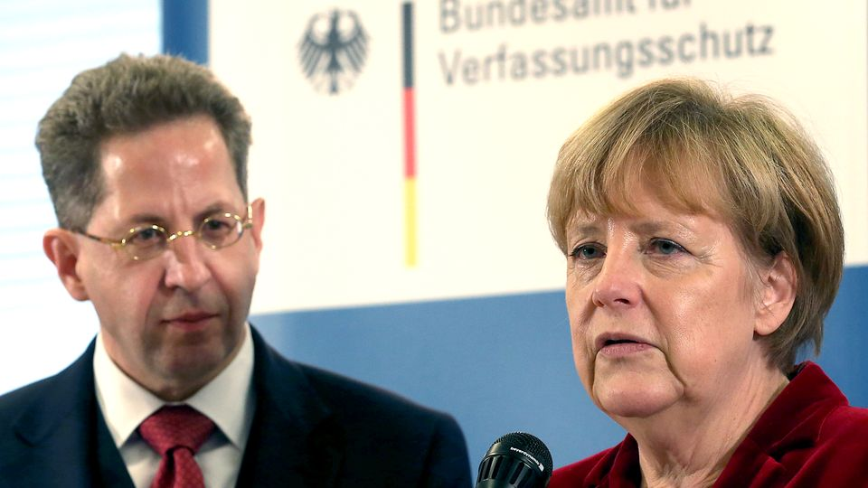 Hans-Georg Maaßen und Bundeskanzlerin Angela Merkel im Oktober 2014