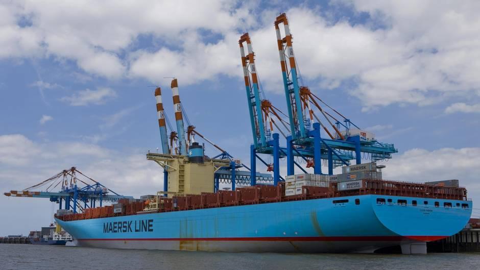Containerschiff der Firma Maersk