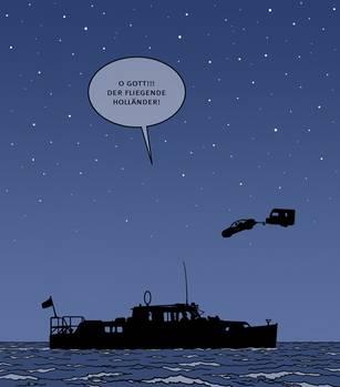 Comic fliegender Holländer