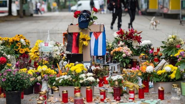 Gedenkstätte für den toten Daniel H. in Chemnitz