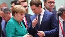 Angela Merkel und Sebastian Kurz