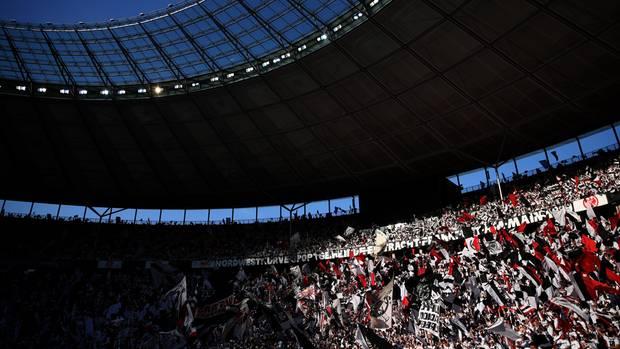Frankfurt-Fans beim DFB-Pokalfinale in Berlin