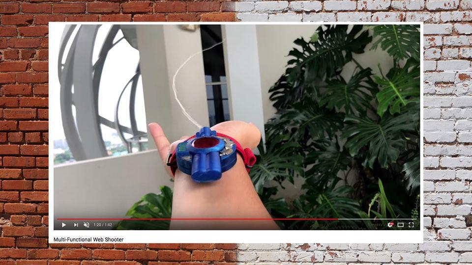 Dieses Gerät schießt Fäden – wie bei Spiderman
