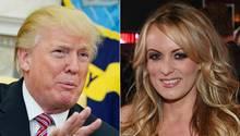 US-Pornodarstellerin Stormy Daniels und US-Präsident Donald Trump