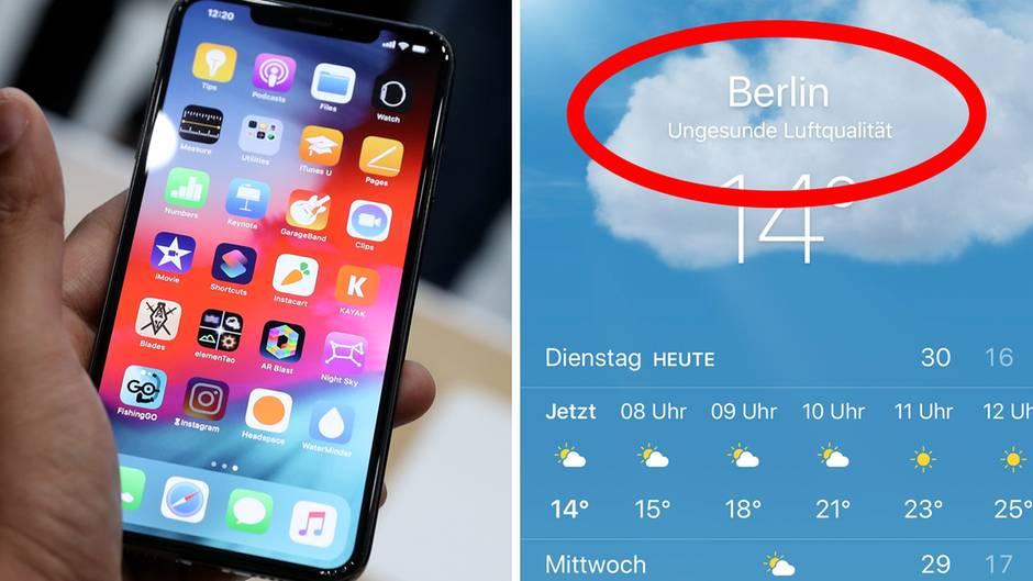 """Neues Feature: Was hat es mit der """"ungesunden Luft""""-Anzeige beim iPhone auf sich?"""