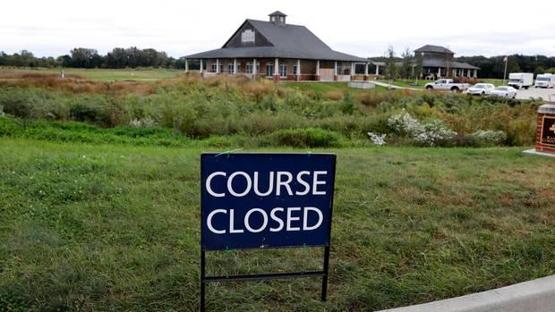 Der Golfplatz Coldwater Golf Links in Ames, USA ist geschlossen