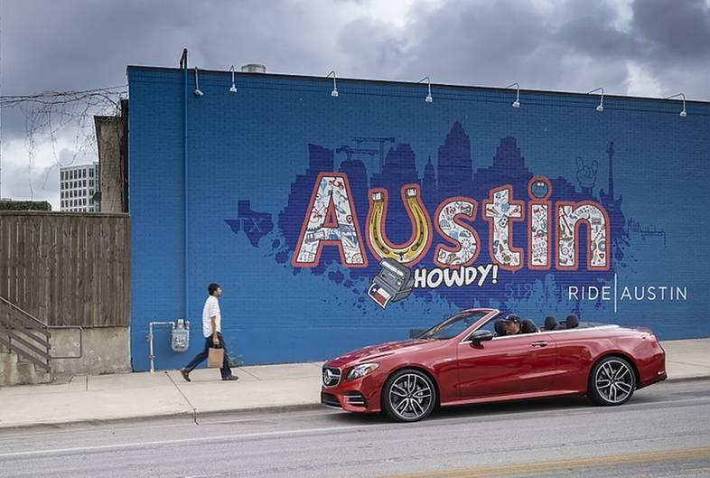 Mercedes AMG E53 4matic Cabrio - unterwegs in Texas