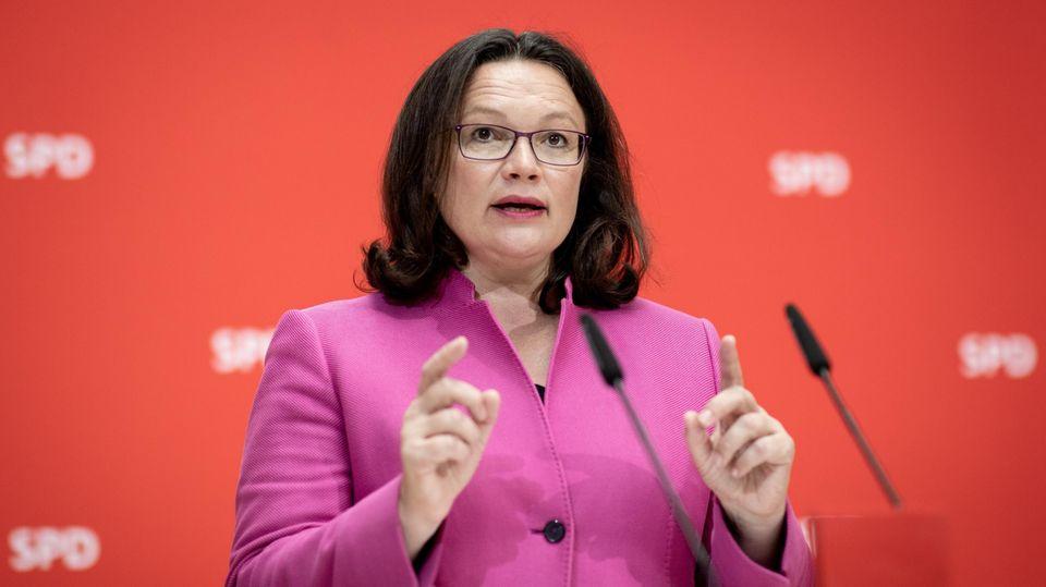 Andrea Nahles - Ja zu Maaßen bringt sie in ihrer Partei in die Zwickmühle