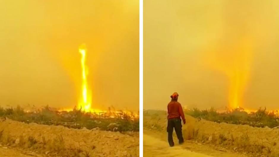 Notstand ausgerufen: 60 Meter hoher Feuertornado wütet in British Columbia