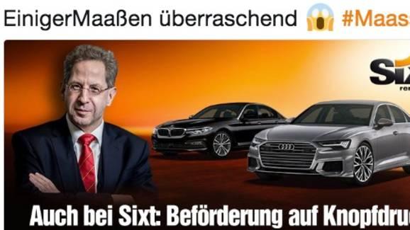 "Provokante Werbung: ""Beförderung auf Knopfdruck"": So spottet Sixt über den Maaßen-Deal"