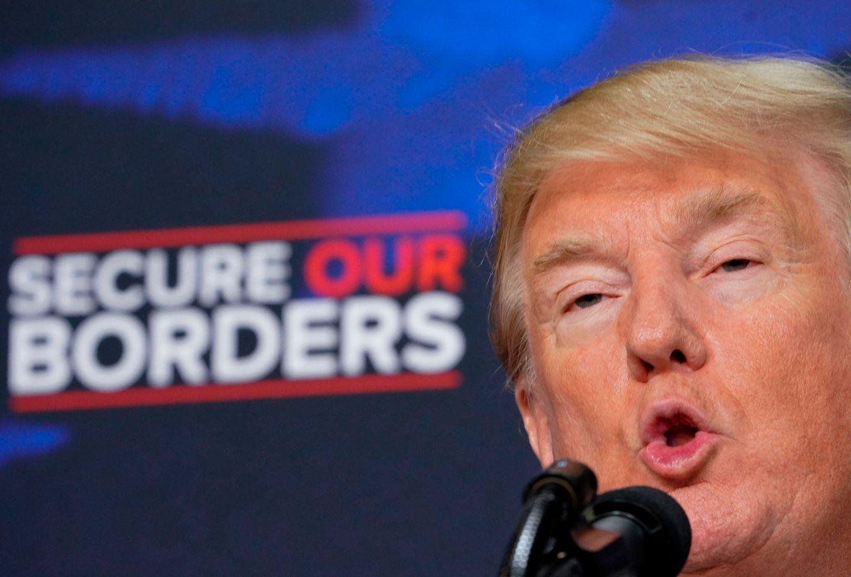 US-Präsident Donald Trump bei einer Rede zum Thema Immigration vergangenen Juni in Washington