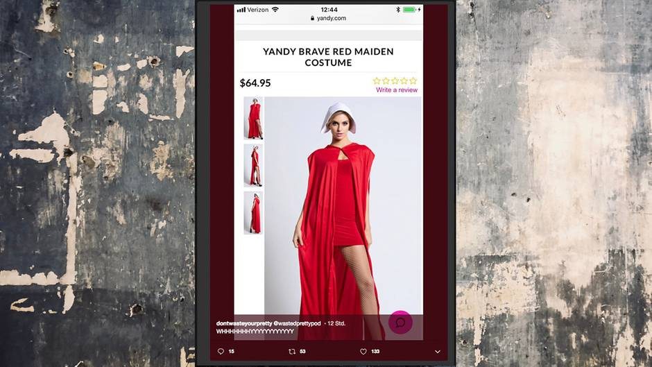 """Brave Red Maiden Costume"""