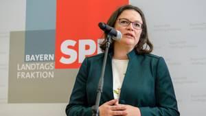 SPD-Chefin Andrea Nahles will Maaßen-Deal offenbar neu verhandeln