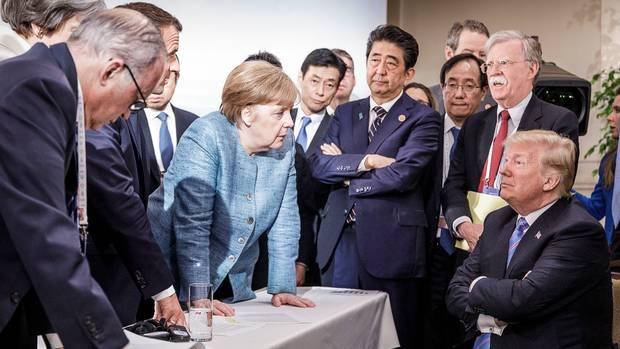 Auf dem G7-Gipfel im Juni steht Merkel im Kreise der Mächtigen - und in Konfrontation mit Donald Trump