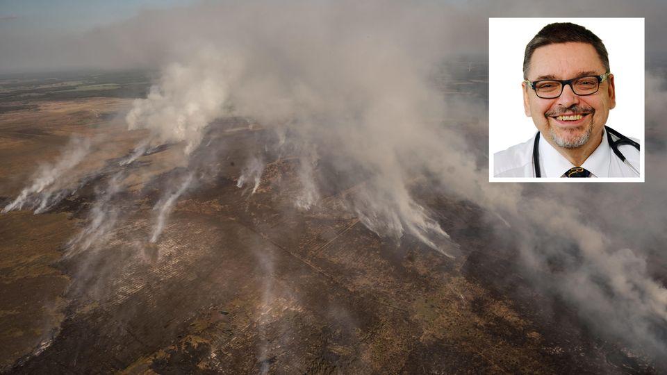 Der großflächige Moorbrand war vor mehr als zwei Wochen infolge von Raketentests der Bundeswehr ausgebrochen