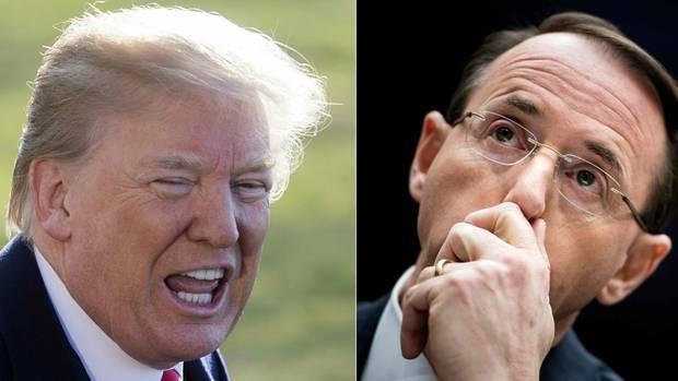 US-Vizejustizminister Rod Rosenstein wollte Präsident Donald Trump angeblich abhören lassen